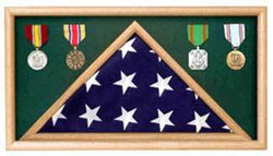 Army Oak Flag Memorial Display Case 3' x 5'