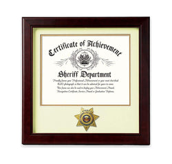 US Sheriff Medallion 8-Inch by 10-Inch Certificate Frame