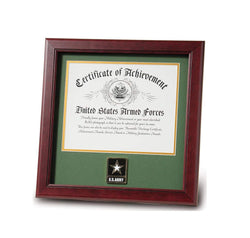 United States Go Army Certificate of Achievement Frame with Medallion - 8 x 10 inch