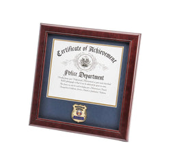 United States Police Officer Certificate of Achievement Frame with Medallion - 8 x 10 inch
