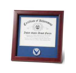 United States Aim High Air Force Certificate of Achievement Frame with Medallion - 8 x 10 inch