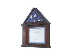 Presentation Flag Display Case Certificate & Document Holder Frame  3' X 5' Flag