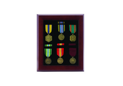 10 X 12 Inch Walnut Finish Medal Display Case