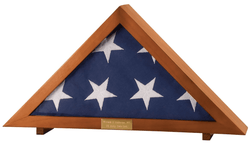 Personalized Display Case for Veterans Burial Flag