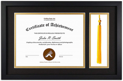 Flag Connections Diploma Tassel Shadow Box 11x17.5 Frame for 8.5x11 Document/Certificate