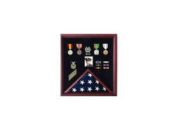 4 x 6 Flag Display Case Combination For Medals Photos