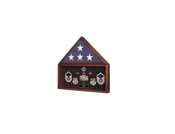Burial Flag Medal Display case, Flag Document Holder, 4' x 6' flag