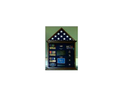 Flag Case, 4' x 6' Flag and Badge display cases