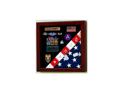 American Made Burial Flag Medals Display case, 4' x 6'