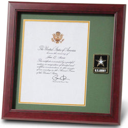 Go Army Presidential Memorial Certificate Frame with Medallion - 8 x 10 inch