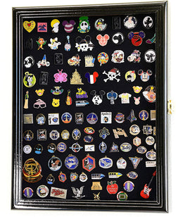 Lapel Pin Pins Display Case Cabinet Wall Rack Holder Disney Hard Rock Military Pins