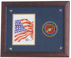 Flag Connections U.S. Marine Corps Picture Frame with Medallion and Stars - 5 x 7 inch