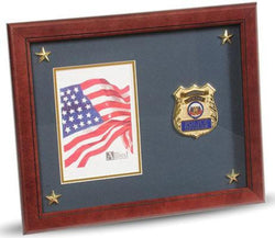 Flag Connections Police Department Medallion Picture Frame with Stars, 5 by 7-Inch.