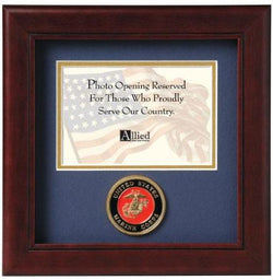 Flag Connections United States Marine Corps Horizontal Picture Frame
