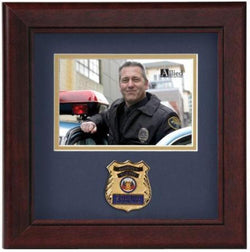 Flag Connections Police Officer Horizontal Picture Frame.