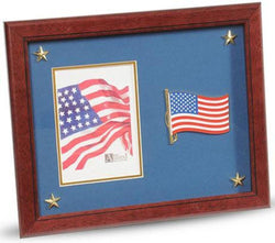 Flag Connections American Flag Medallion Picture Frame with Stars, 5 by 7-Inch.
