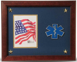 Flag Connections EMS Medallion Picture Frame with Stars, 5 by 7-Inch.