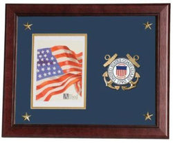 Flag Connections United States Coast Guard Vertical Picture Frame with Medallion and Stars