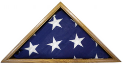 Light Oak Flag Display Case, 5x9.5' Solid Oak Memorial Burial Flag, USA Made, Fine Furniture Quality