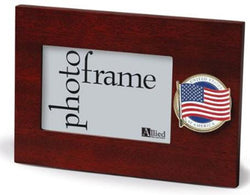 Flag Connections American Flag Medallion 4-Inch by 6-Inch Desktop Picture Frame