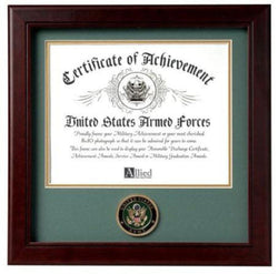Flag Connections United States Army Certificate of Achievement Frame with Medallion - 8 x 10 inch.