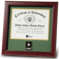 Flag Connections United States Go Army Certificate of Achievement Frame with Medallion (8 x 10 inch)