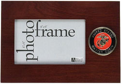 Flag Connections U.S. Marine Corps Medallion 4-Inch by 6-Inch Desktop Picture Frame