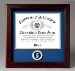 US Air Force Certificate of Achievement Frame with Medallion - 8 x 10 inch.