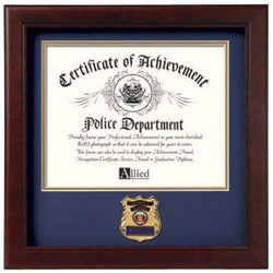 US Police Officer Certificate of Achievement Frame with Medallion - 8 x 10 inch.