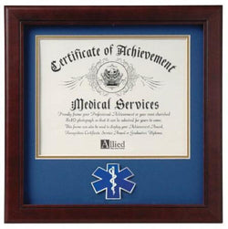 Flag Connections Emergency Medical Services Certificate of Achievement Frame.