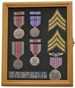 Flag Connections Military Medals, Pins, Award, Insignia, Ribbons Display Case.