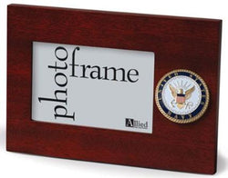 Flag Connections U.S. Navy Medallion 4-Inch by 6-Inch Desktop Picture Frame