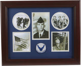 The Military Gift  Store Products Frame Aim High Air Force Medallion 5 Picture Collage Frame.