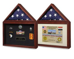 Fathers day Flag Display Case - Shadow Box