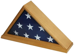 Solid Wood Memorial 5' x 9.5' Flag Display Case Frame for Burial/Funeral/Veteran Flag