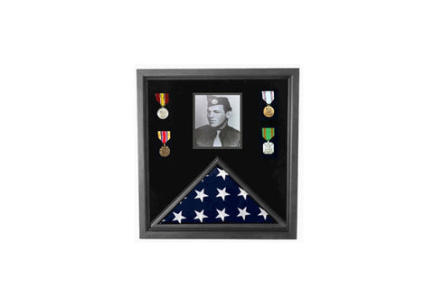 5x 8ft American flag and photo display case for large American flag and photos....