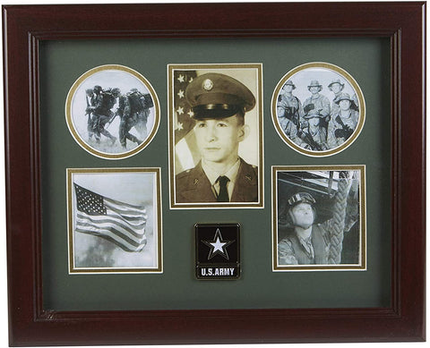 The Military Gift Store Products Frame Go Army Medallion 5-Picture Collage Frame.