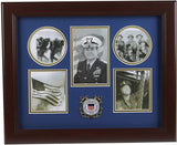 The Military Gift  Store US Coast Guard Medallion 5 Picture Collage Frame.