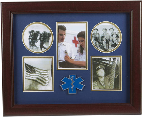 The Military Gift Store Products Frame Ems Medallion 5-Picture Collage Frame.