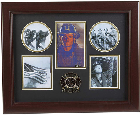 The Military Gift Store Products Frame Firefighter Medallion 5-Picture Collage Frame.