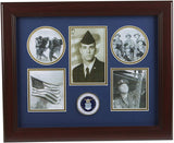 The military gift  store Frame US Air Force Medallion 5 Picture Collage Frame.