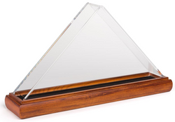 Cherry Wood Flag Display Cases with Clear Acrylic Cover – Cherry