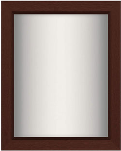 Mahogany Shadow Box Frame with Soft Linen Back | Displays Memorabilia and Photos up to 8x10 Inches