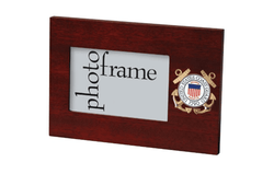 US Coast Guard Medallion Desktop Landscape Picture Frame - 4 x 6 Inch