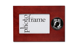 POW/MIA Medallion 4-Inch by 6-Inch Desktop Picture Frame