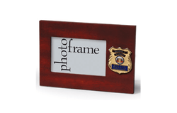 US Police Officer Medallion Desktop Landscape Picture Frame - 4 x 6 Inch