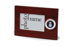 US Air Force Medallion Desktop Landscape Picture Frame - 4 x 6 Inch