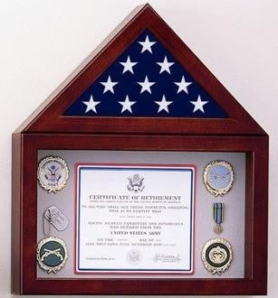 Flag Display Case with a 10 high Shadow Box