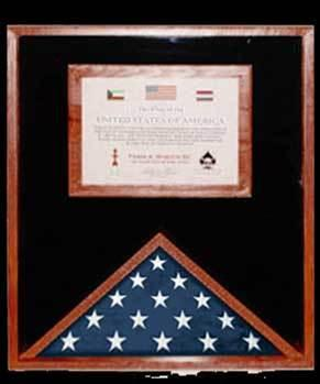 Flag Connections Flag Display Cases with Certificate Holder