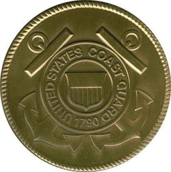 Coast Guard Brass Medallion - The Military Gift Store
